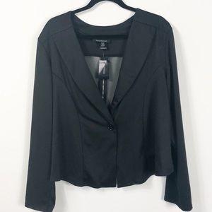 Ashley Stewart Black Mesh Zip Jacket 18 NWT